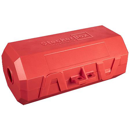 SteckerBox abschließbar Maxi SteckerSafe mit Schnappverschluss rot