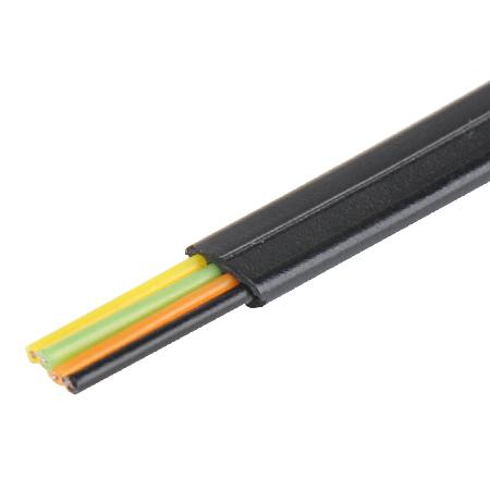 Telefonkabel flach schwarz 4-adrig Flachkabel 100 m