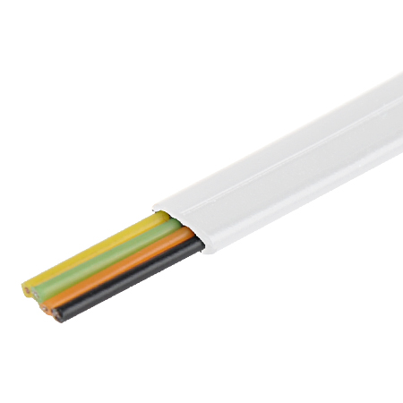 Telefonkabel flach weiß 4-adrig Flachkabel 100 m - KabelScheune.de