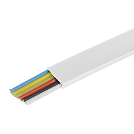 Telefonkabel flach weiß 6-adrig Flachkabel 100 m