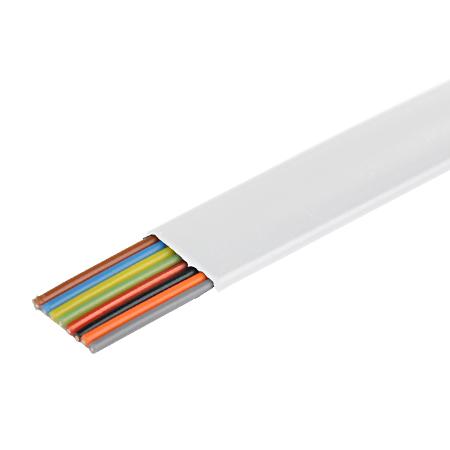 Telefonkabel flach weiß 8-adrig Flachkabel 100 m