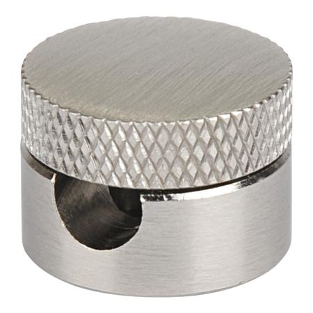 Textilkabel Befestigung für Wand und Decke Metall Silber Matt
