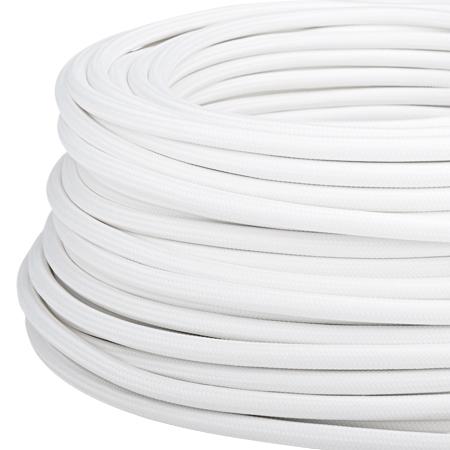 Textilkabel Stoffkabel 3x1,5 mm² weiß