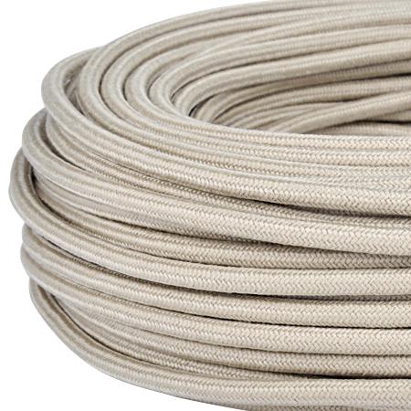 Textilkabel Stoffkabel 3x0,75 mm² beige