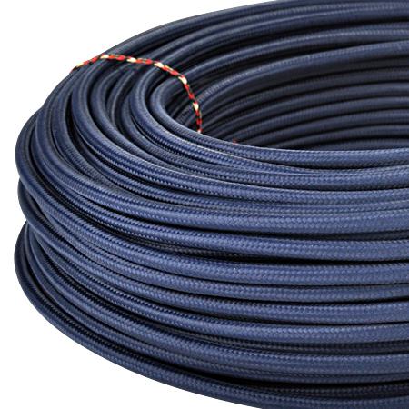 Textilkabel Stoffkabel 3x0,75 mm² dunkelblau