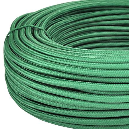 Textilkabel Stoffkabel 3x0,75 mm² dunkelgrün