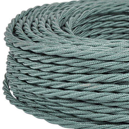 Textilkabel Stoffkabel gedreht 3x0,75 mm² salbeigrün