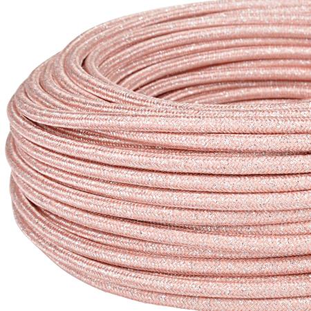 Textilkabel Stoffkabel 3x0,75 mm² Glitter rose