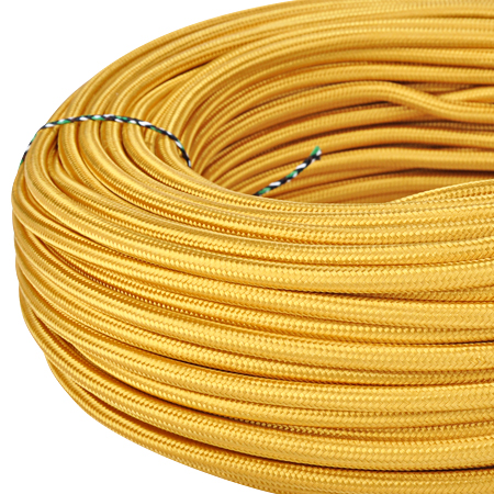 Textilkabel Stoffkabel 3x0,75 mm² gold
