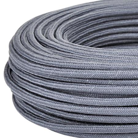 Textilkabel Stoffkabel 3x0,75 mm² graphit