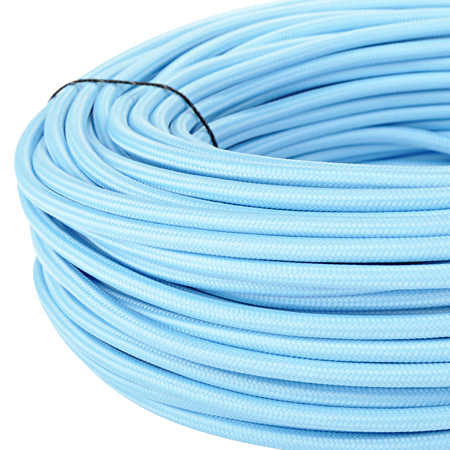 Textilkabel Stoffkabel 3x0,75 mm² hellblau