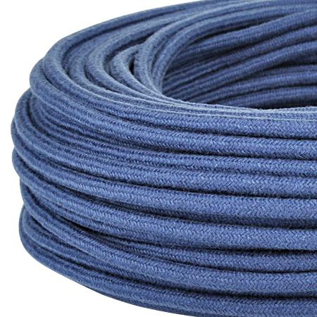 Textilkabel Stoffkabel 3x0,75 mm² jeansblau