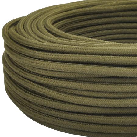 Textilkabel Stoffkabel 3x0,75 mm² Khaki moosgrün