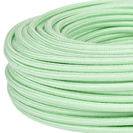 Textilkabel Stoffkabel 3x0,75 mm² mintgrün