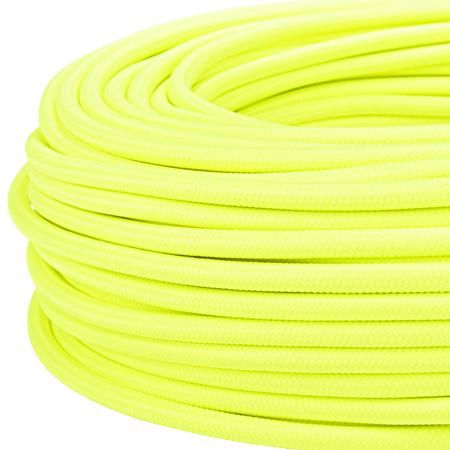 Textilkabel Stoffkabel 3x0,75 mm² Neon gelb 10 m