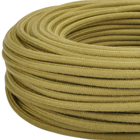 Textilkabel Stoffkabel 3x0,75 mm² olivgrün