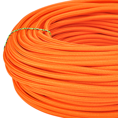 Textilkabel Stoffkabel 3x0,75 mm² orange
