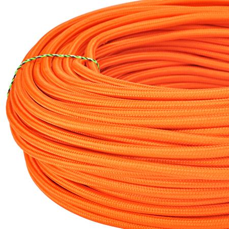Textilkabel Stoffkabel 3x0,75 mm² orange Meterware