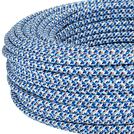 Textilkabel Stoffkabel 3x0,75 mm² Pixel blau