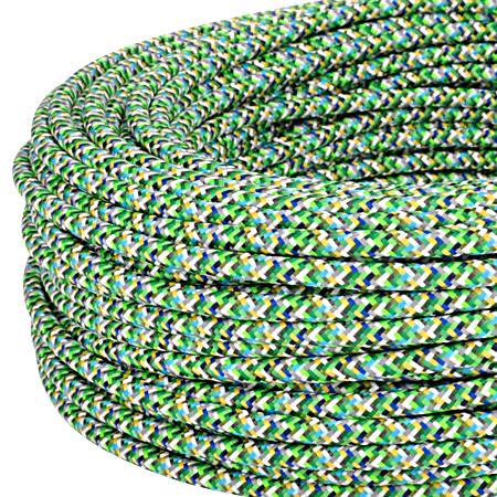 Textilkabel Stoffkabel 3x0,75 mm² Pixel grün