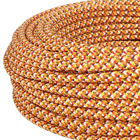 Textilkabel Stoffkabel 3x0,75 mm² Pixel orange