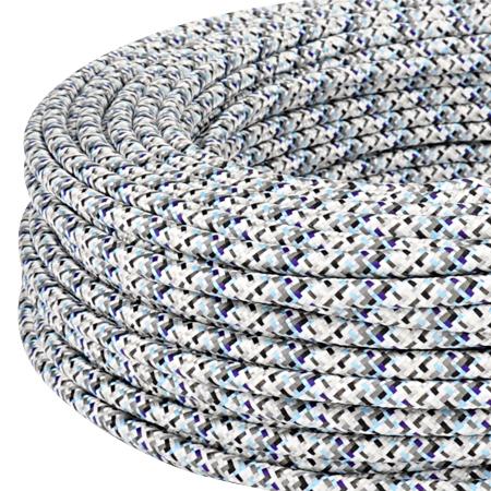 textilkabel stoffkabel 3x0 75 mm pixel silbergrau 5 m. Black Bedroom Furniture Sets. Home Design Ideas