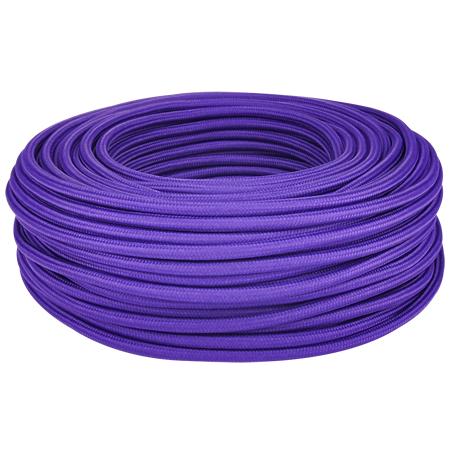 Textilkabel Stoffkabel 3x0,75 mm² violett