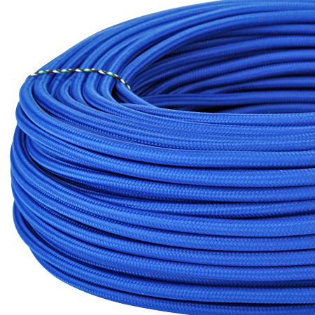 Textilkabel Stoffkabel 3x0,75 mm² royalblau
