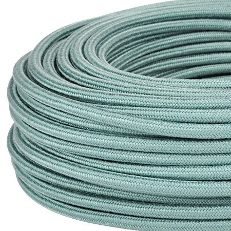 Textilkabel Stoffkabel 3x0,75 mm² salbeigrün 3 m