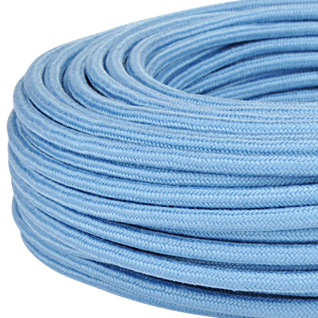 Textilkabel Stoffkabel 3x0,75 mm² taubenblau