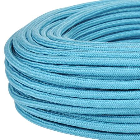 Textilkabel Stoffkabel 3x0,75 mm² türkis