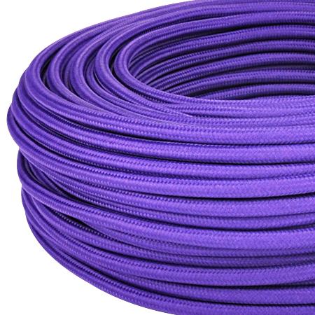 Textilkabel Stoffkabel 3x0,75 mm² violett Meterware