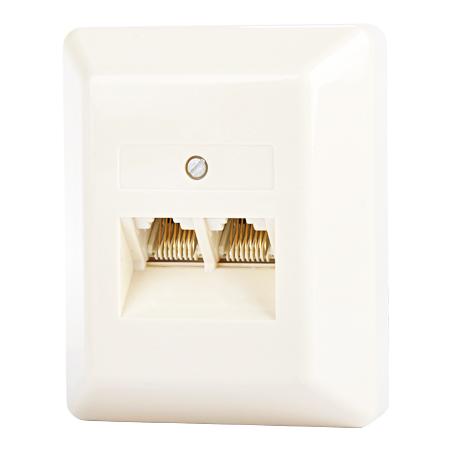 UAE Telefondose 2-fach Aufputz 2x8(8) parallel