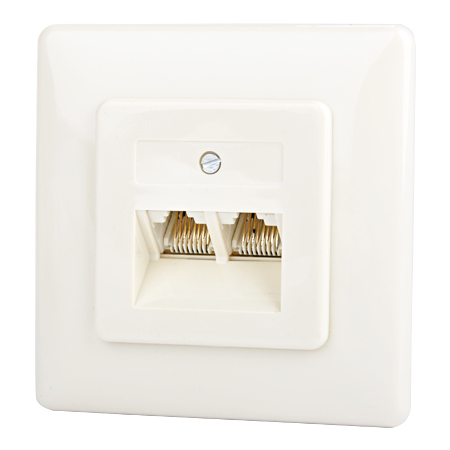 UAE Telefondose 2-fach Unterputz 2x8(8) parallel