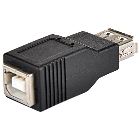 USB 2.0 Adapter A-Buchse B-Buchse schwarz