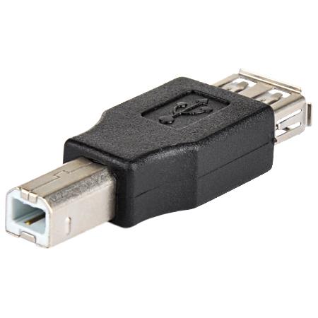 USB 2.0 Adapter A-Buchse B-Stecker schwarz