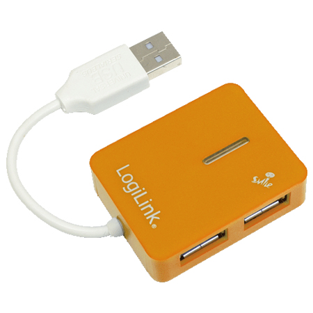 LogiLink USB 2.0 Hub 4-Port Smile orange