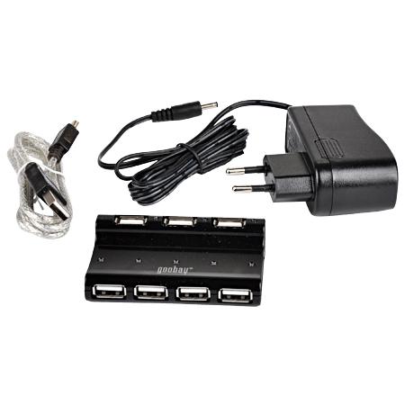 USB 2.0 Hub / Verteiler 7-Port schwarz