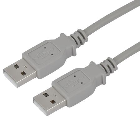USB 2.0 Kabel A-Stecker, A-Stecker grau