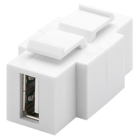 USB 2.0 Keystone Modul A-Buchse B-Buchse