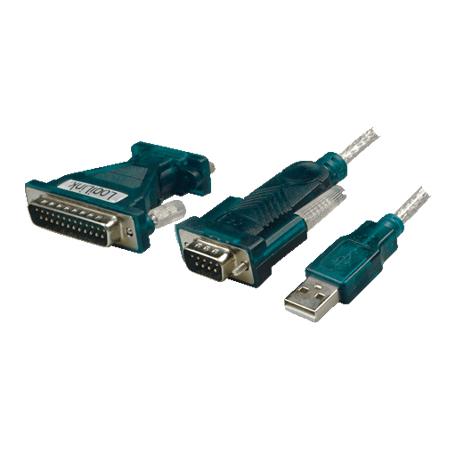 LogiLink USB 2.0 zu Seriell Adapter 9+25 Pin