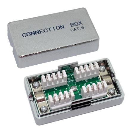 Verbindungsmodul Cat.6 Kabelverbinder silber