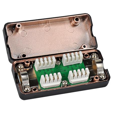 Verbindungsmodul Cat.6a Kabelverbinder schwarz