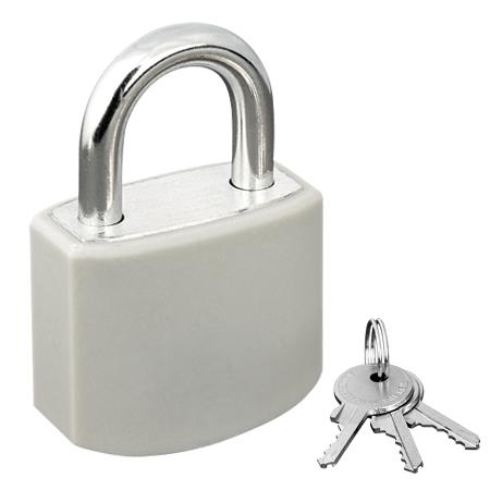 Vorhangschloss grau für SteckerBox inkl. 3 Schlüssel