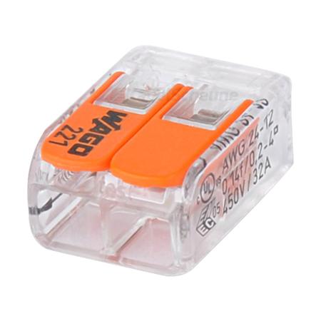 Wago Compact Verbindungsklemme 2-fach 100 Stück