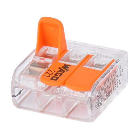Wago Compact Verbindungsklemme 3-fach 50 Stück