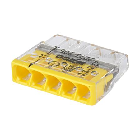 Wago Steckklemme 5-fach 0,5-2,5 mm² gelb 100 Stück