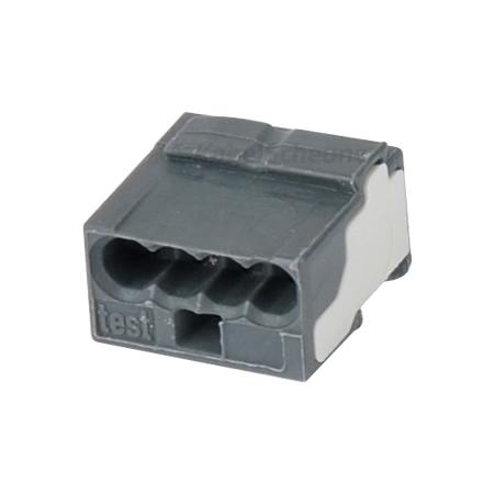 Wago Micro Steckklemme 0,6-0,8 mm dunkelgrau