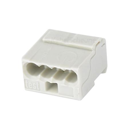 Wago Micro Steckklemme 0,6-0,8 mm hellgrau