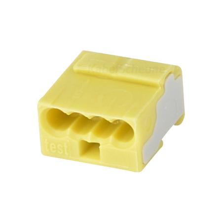 Wago Micro Steckklemme 0,6-0,8 mm gelb